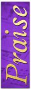 Praise fabric banner