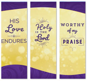 fabric worship collage banners