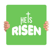 He is Risen - green HHE002