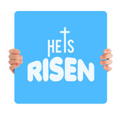 He is Risen - blue HHE003