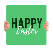 Happy Easter - green HHE009