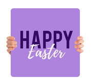 Happy Easter - purple HHE010