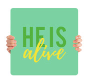 He is Alive - green HHE012