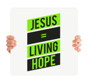 Jesus Living Hope - green HHE015