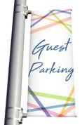 Guest Parking Light Pole banner
