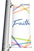 Faith Light Pole Banner