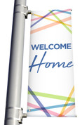Welcome Home Light Pole Banner