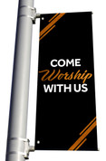DS Light Pole Banner Black Copper - Worship