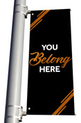 DS Light Pole Banner Black Copper - You Belong