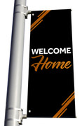 welcome outdoor pole banner