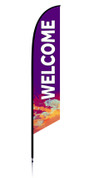 Feather Banner - Purple Splash - Welcome