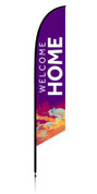 Feather Banner - Purple Splash - Welcome Home