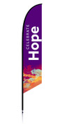 Feather Banner - Purple Splash - Celebrate Hope