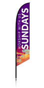 Feather Banner - Purple Splash - Sundays