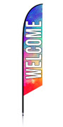 Feather Banner - Colorful - Welcome