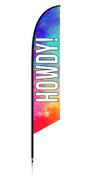 Feather Banner - Colorful - Howdy