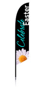Feather Banner - Black flower - Celebrate Easter