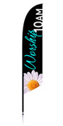 Feather Banner - Black flower - Worship
