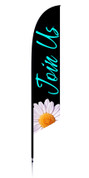 Feather Banner - Black flower - Join Us