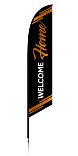 Welcome Home feather flag