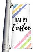 Happy Easter light pole banner