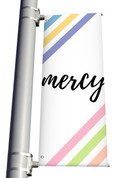 DS Light Pole Banner Pastel Stripes - Mercy