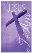 purple fabric church banner