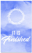 It is finished watercolor blue banner