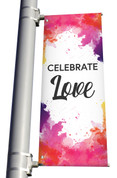 Celebrate Love light pole banner for Easter