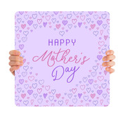 Happy Mother's Day - Purple Hearts MD100