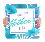 Happy Mother's Day - Teal Flowers MD102