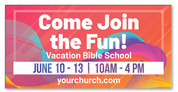 vbs 2019 banner orange shades