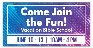 VBS Banner come join the fun lines