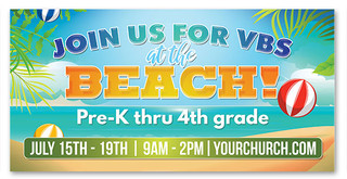 vbs at the beach vinyl banner