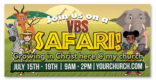 vbs safari theme banner