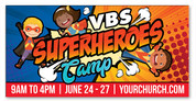 vbs super heroes camp banner