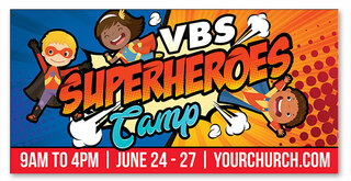 vbs super heroes camp banner