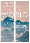 Go into all the world and preach Mission banner