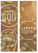 love God love others serve the world banner