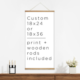 custom canvas poster hanger