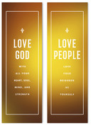 love God love people gold gradient banner
