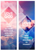 Love God Love People Clouds Diamond Banner