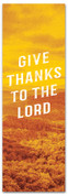 Give thanks to the Lord Fall harvest banner - duotone yellow