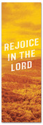 Rejoice in the Lord Fall harvest banner - duotone yellow