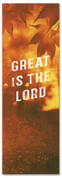 Great is the Lord Fall harvest banner - duotone gold
