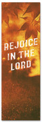 Rejoice in the Lord Fall harvest banner - duotone gold