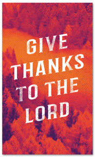 Give thanks to the Lord Fall harvest banner - duotone red large