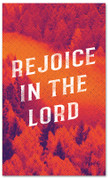 Rejoice in the Lord Fall harvest banner - duotone red large