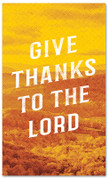 Give thanks to the Lord Fall harvest banner - duotone yellow large