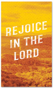 Rejoice in the Lord Fall harvest banner - duotone yellow large